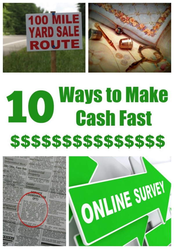ways to make cash fast