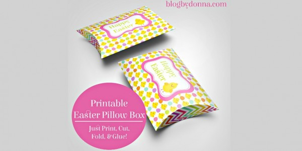 Free Easter Pillow Box Printable