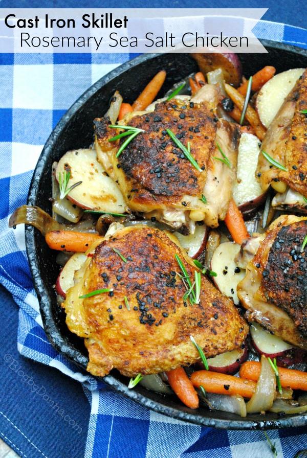 Rosemary Sea Salt Chicken Cast Iron Skillet Recipe