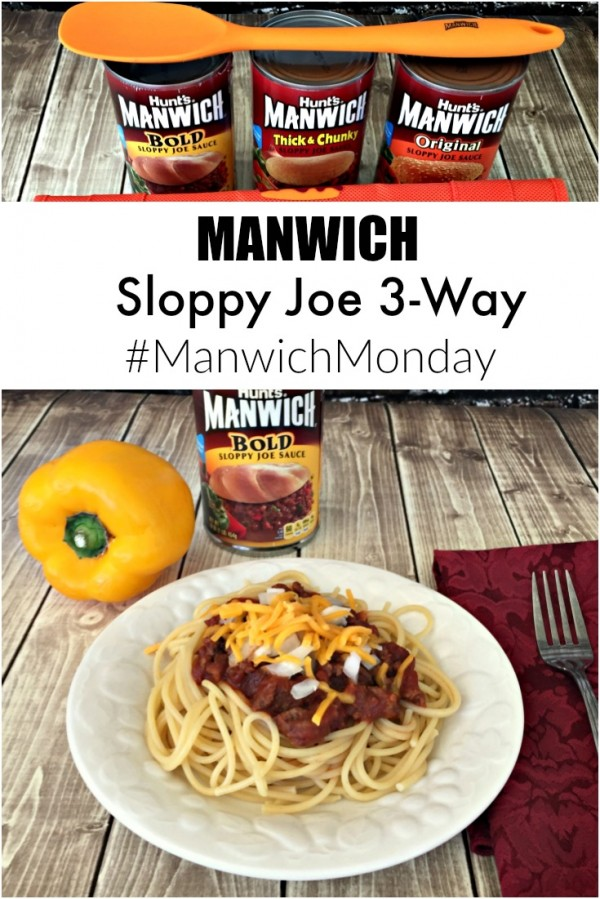 Manwich Sloppy Joe 3-Way Make it a #ManwichMonday #NationalSloppyJoeDay