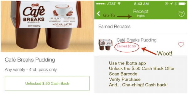 Take 5 with Cafe Breaks using Ibotta at Ingles