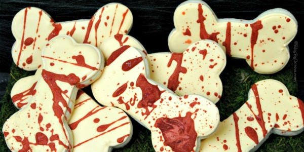 Bloody bones sugar cookies recipe for Halloween or The Walking Dead Season 7 premiere on October 23rd