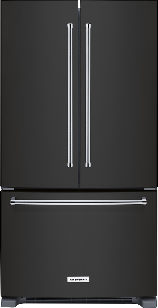KitchenAid black stainless refrigerator