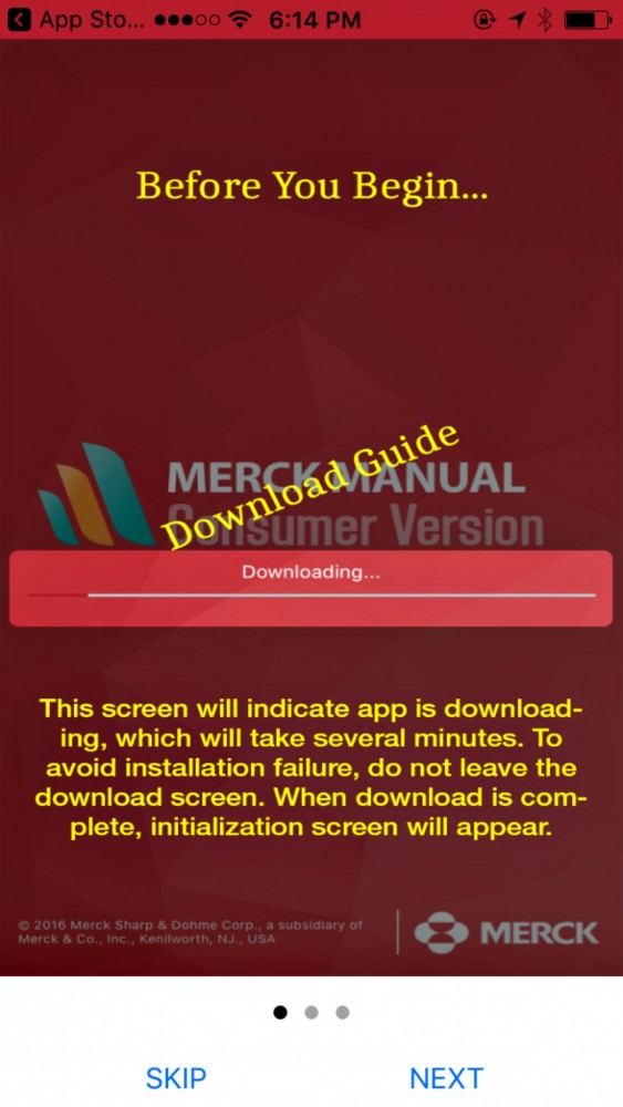 Download Merck Manual guide when you get the Merck Manual Consumer app from iTunes or Google Play