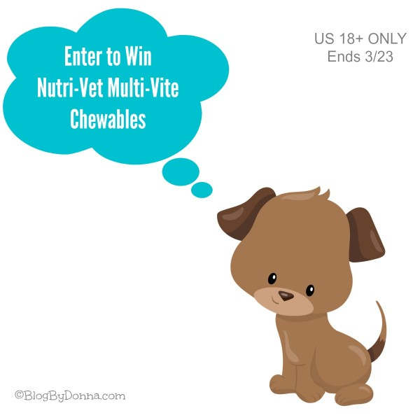 Nutri-Vet Vitamins Giveaway Graphic