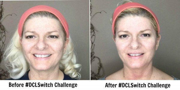 Before and After photos of 10-Day #DCLSwitch SkinCare Challenge