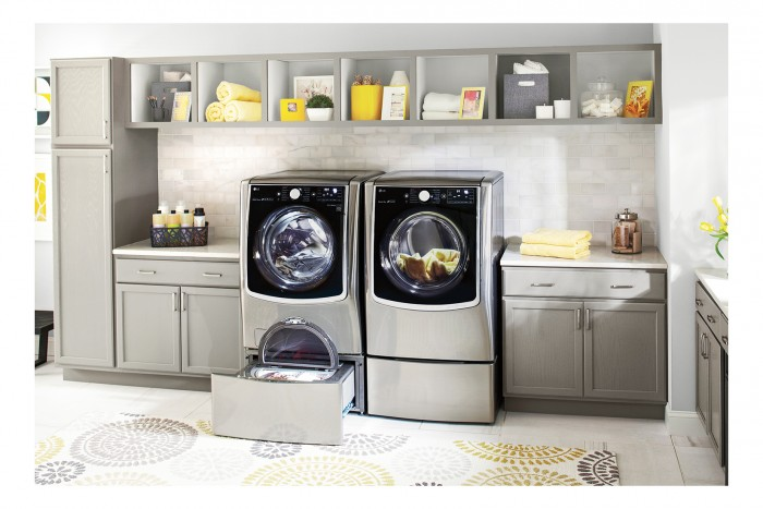 Benefits of a front load washer like the LG front load laundry system from Best Buy