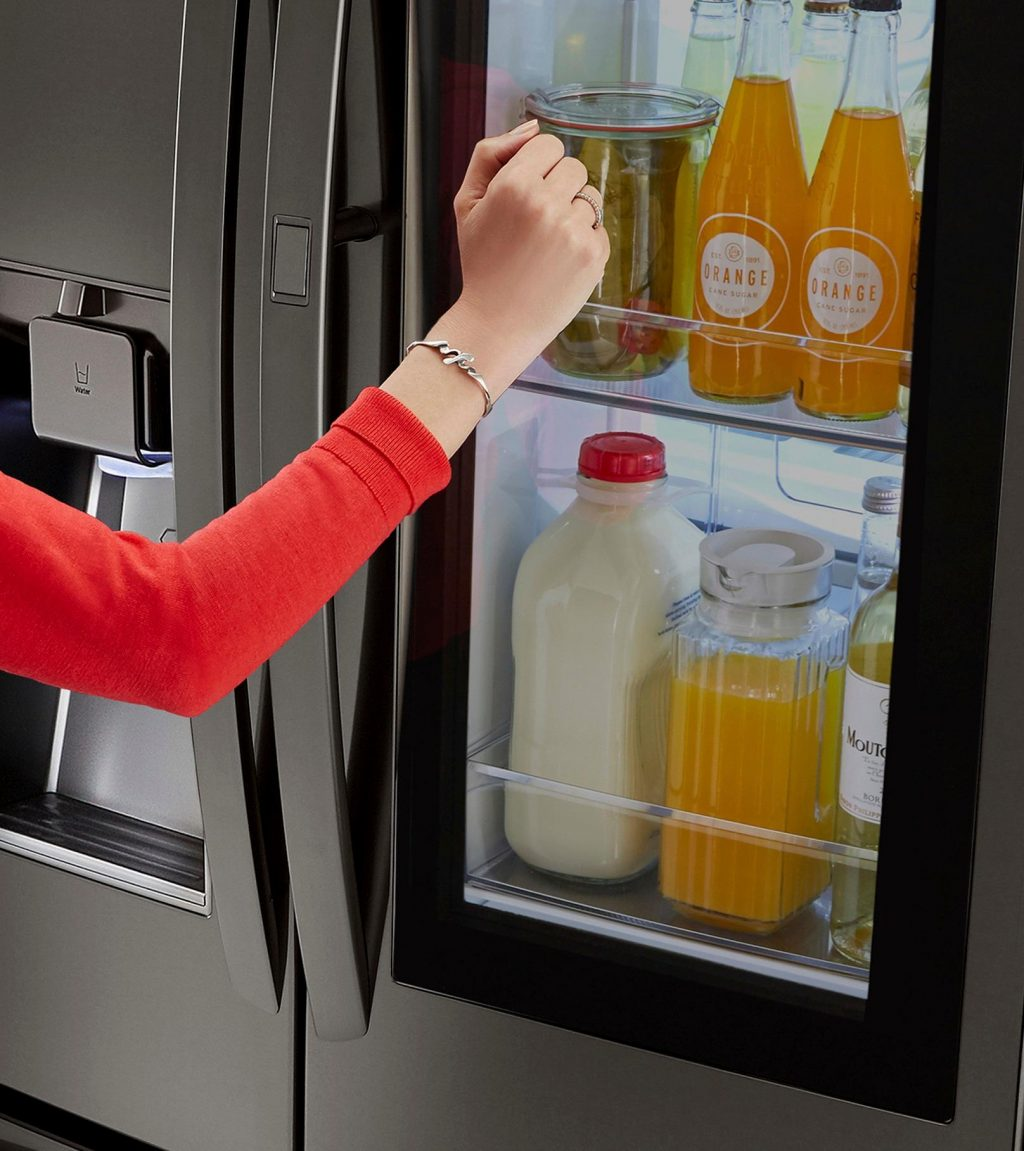 LG InstaView Refrigerator with Knock Twice feature at Best Buy