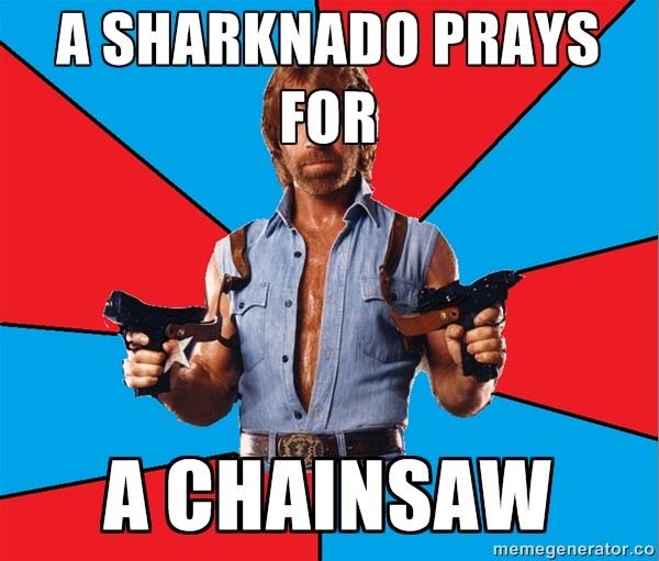 Chuck Norris Sharknado Meme sharknado