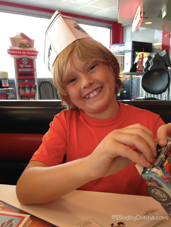 Cody at Steak n Shake October 2013 letters to our sons