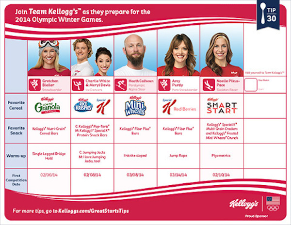 Team Kelloggs Tip 30 Tips for a Great Start with Team Kellogg's