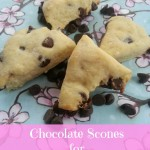 Chocolate Scones Recipe for Valentine's Day via Blog by Donna https://blogbydonna.com