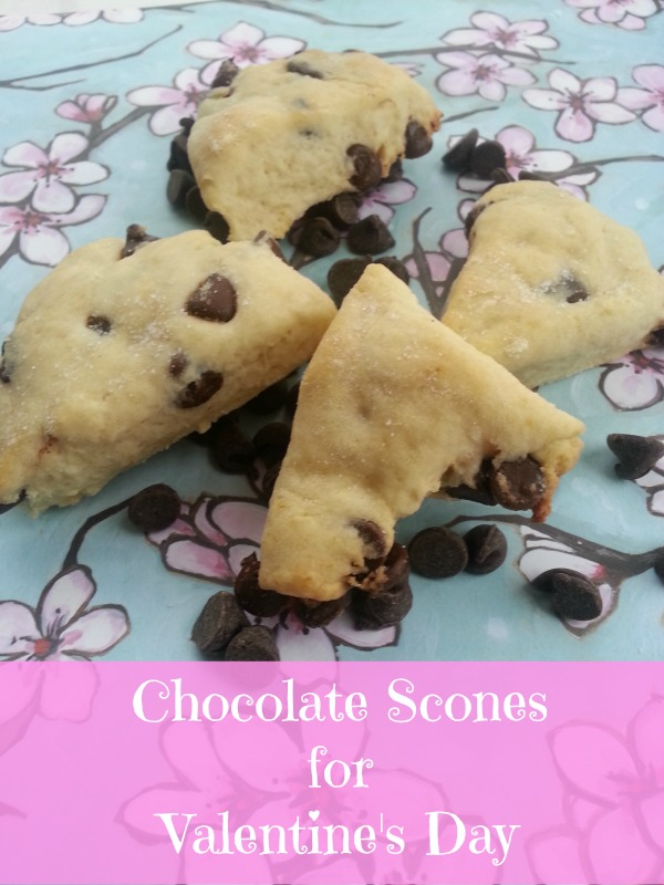 Chocolate Scones Recipe for Valentine's Day via Blog by Donna https://blogbydonna.com