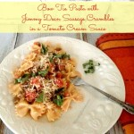 Bow Tie Pasta with Jimmy Dean Sausage Crumbles Recipe #JDCrumbles