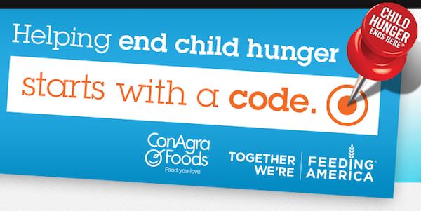 "Conagra foods child hunger ends here ""Ask Hunter"""