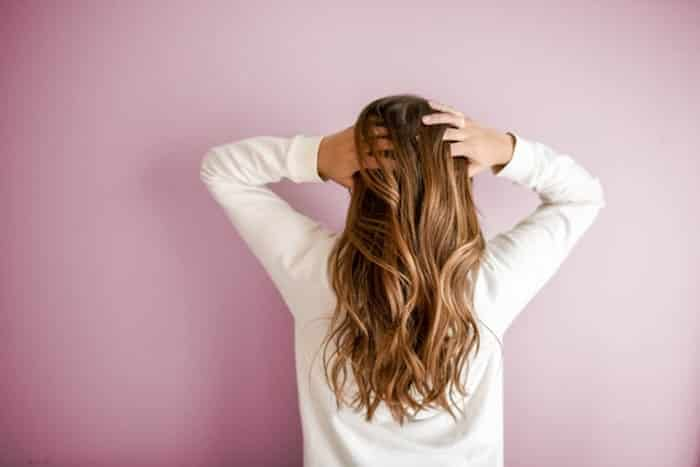 back of woman hair hair extensions