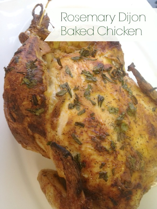 Easy delicious healthy rosemary dijon baked chicken