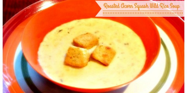 Roasted Acorn Squash Wild Rice Soup Recipe for Fall
