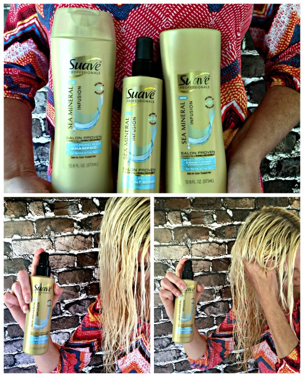 Prepare hair first with Suave Professionals Sea Mineral Infusion