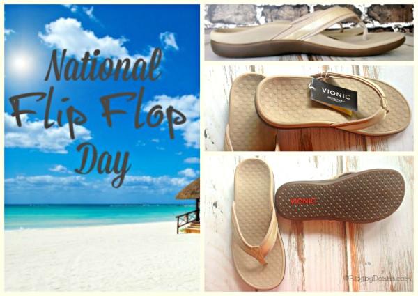 Vionic Flip Flops for National Flip Flop Day vionicshoes national flip flop day