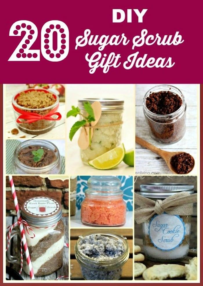 20 DIY sugar scrub Gift Ideas 1 body scrub
