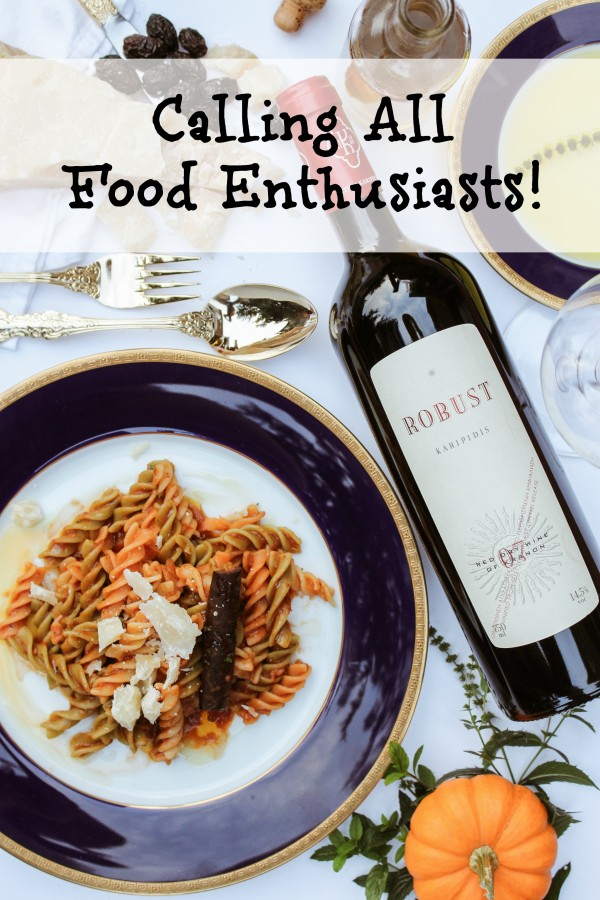Calling Food Enthusiasts with text 1 food enthusiasts