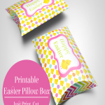 Free Easter Pillow Box Printable perfect for Easter candy or gifts.