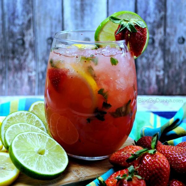 Strawberry Lemonade Lime Mojito Recipe