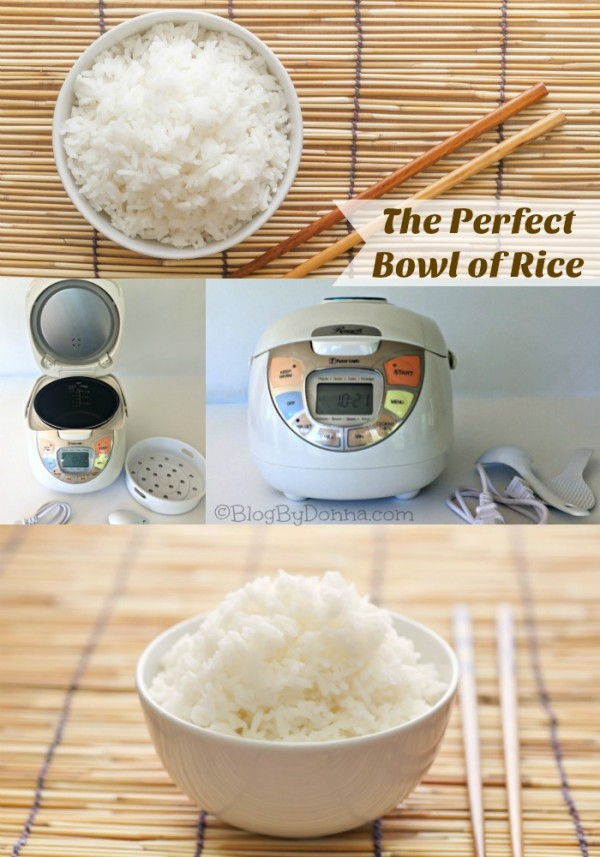 The perfect bowl of rice with the Rosewill Rice Cooker with fuzzy logic technology...