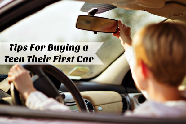 Tips for buying a teen their first car like a used car from DriveTime....