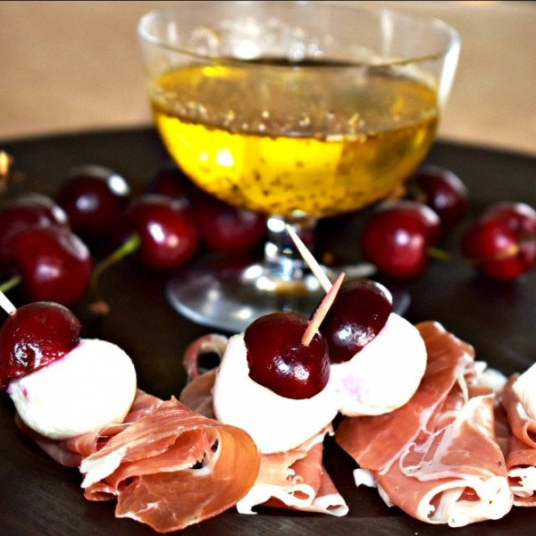 Valentine's Day appetizers are an easy appetizer to make using cherries is this prosciutto cherry bites the perfect party appetizer...