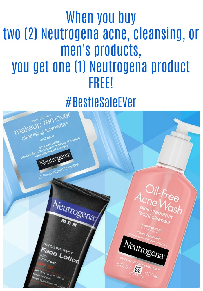 Neutrogena buy 2 get 1 free at the Bestie Sale Ever #BestieSaleEver