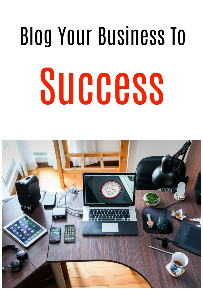 Blog your business to success Pin business