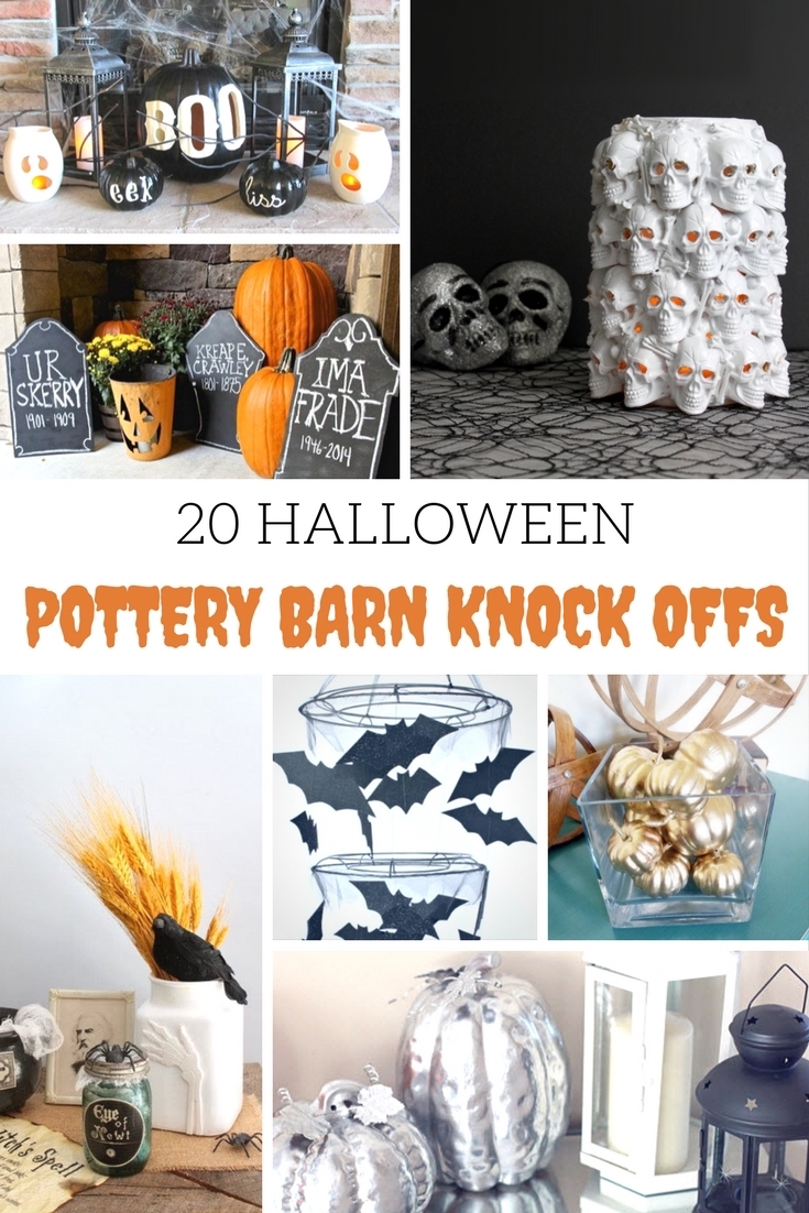 Halloween Pottery Barn Knock-Offs for your home decor that will fit into your budget...