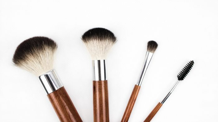 Cleaner solutions to a clearer face - clean your makeup brushes often.