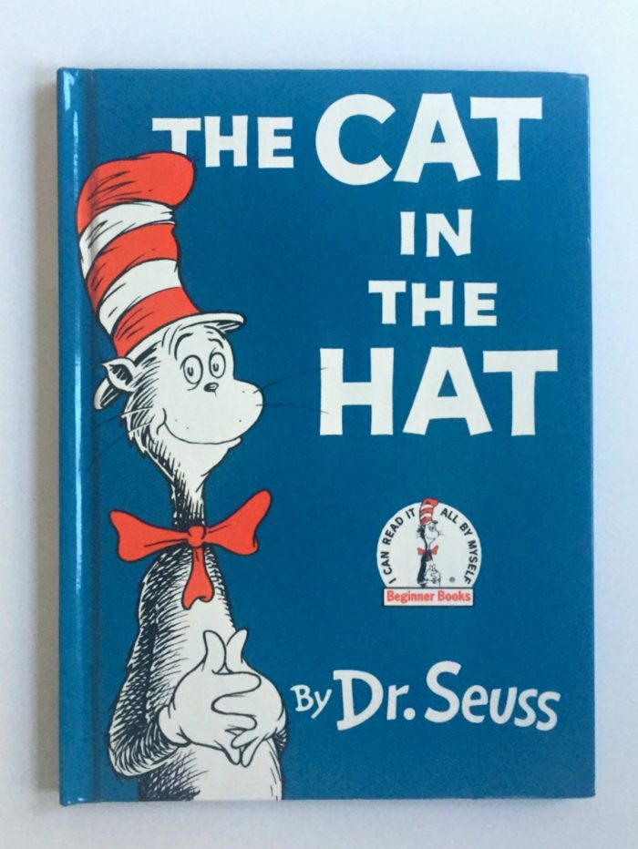 My son's favorite children's book, the Cat in the Hat by Dr. Seuss