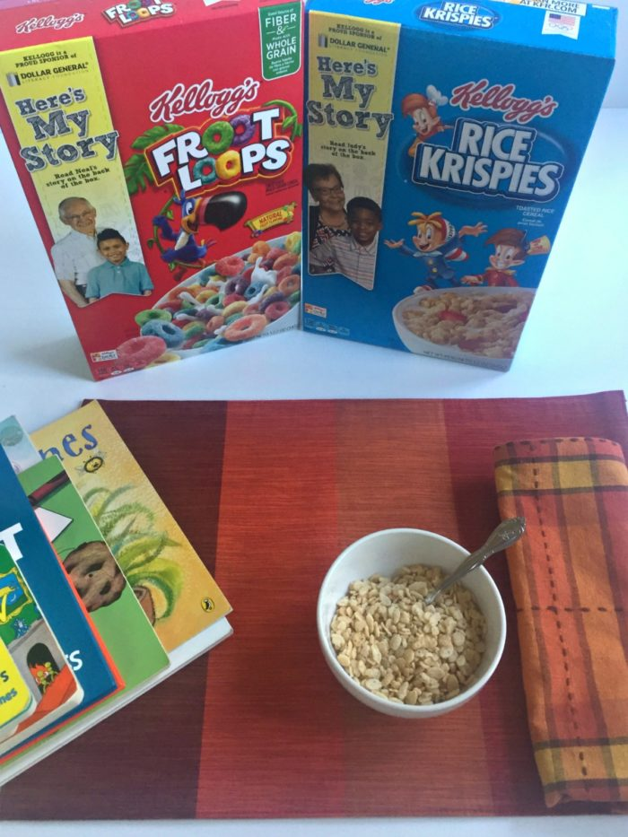 My son's favorite children's books Kellogg's cereal Dollar General Literacy initiative