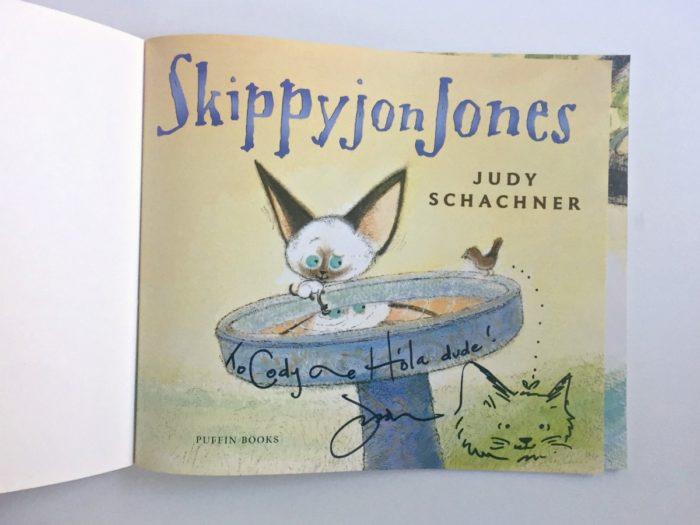 My son's favorite children's book, Skippyjon Jones