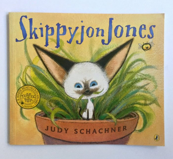 My son's favorite children's books, Skippyjon Jones