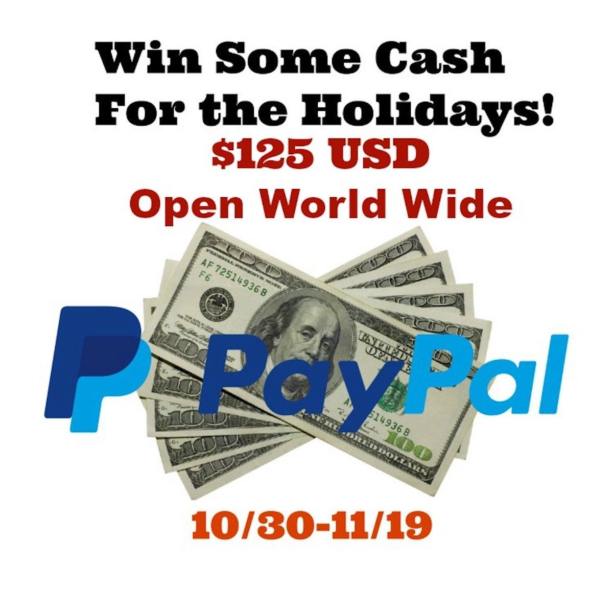 Enter to win $125 giveaway