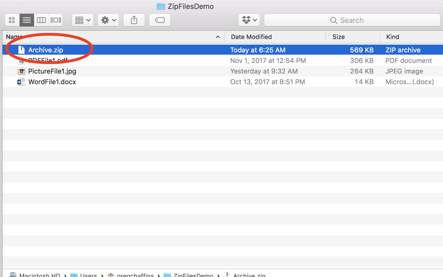 File Zipping On A Mac