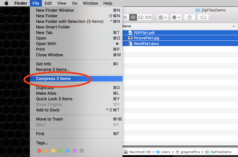 File Zipping On A Mac