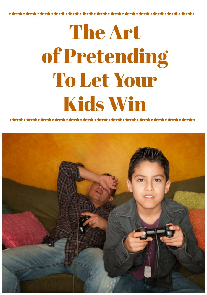 There's an art to pretending to let your kids win or better yet, letting them think the won when they really did