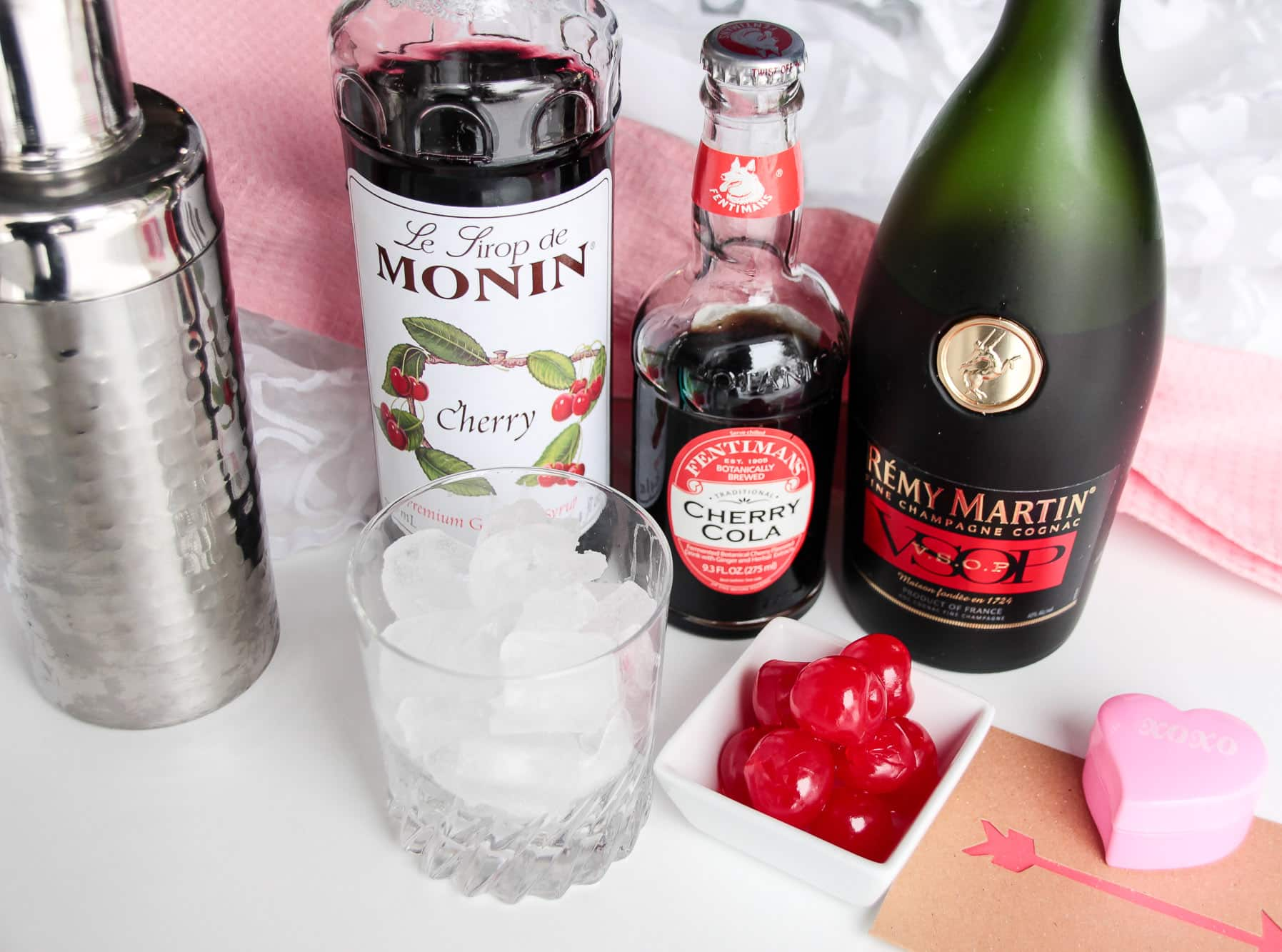 My Cherry Valentine - Cherry Brandy Cocktail with Cognac