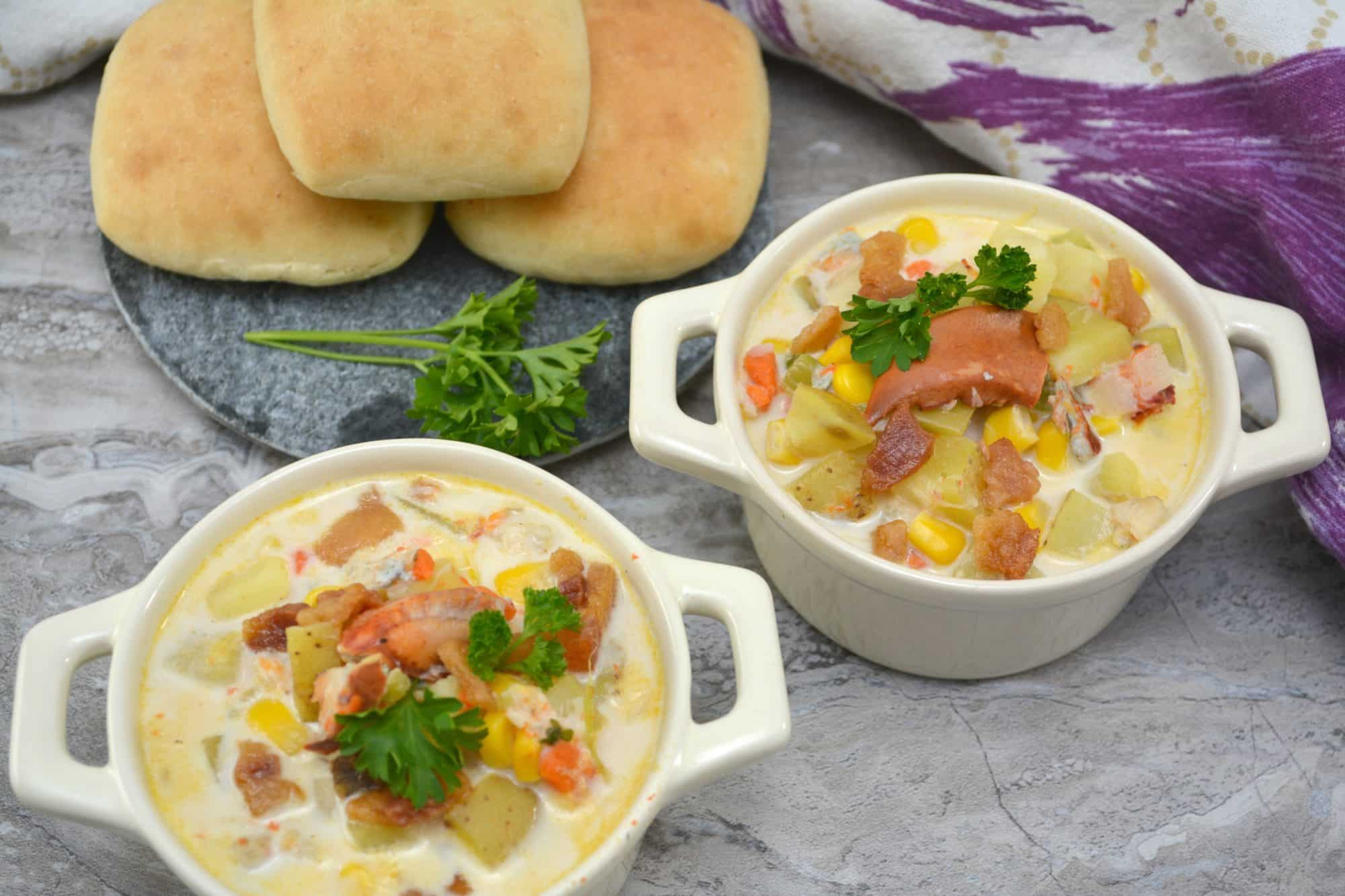 Lobster, corn, potato chowder recipe