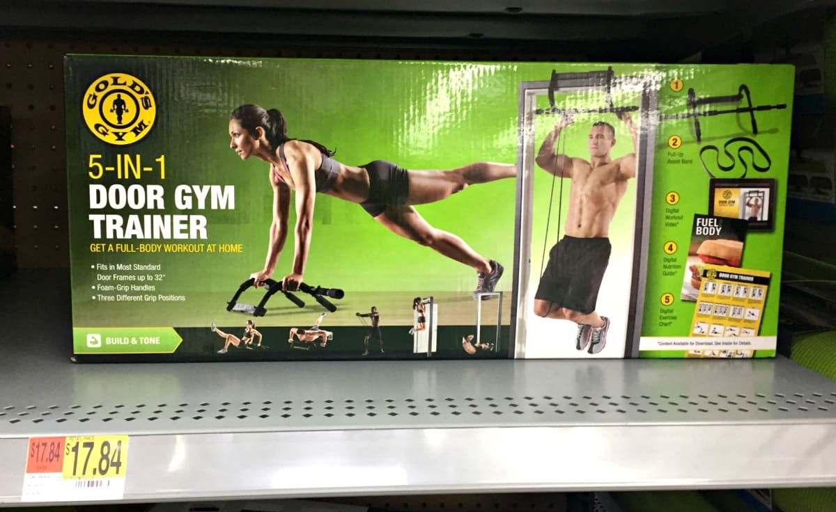 Make your new year resolutions stick with Gold's Gym 5-in-1 door gym trainer