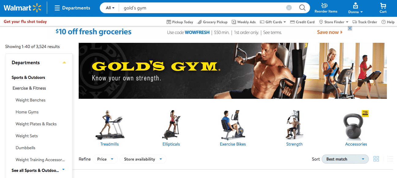 Gold's Gym Fitness Equipment at Walmart helping you make your new year resolutions stick