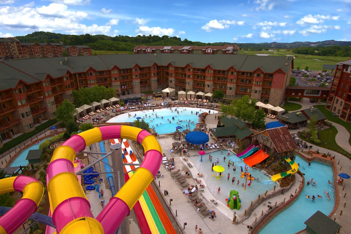 Lake Wilderness outdoor waterpark tower view family