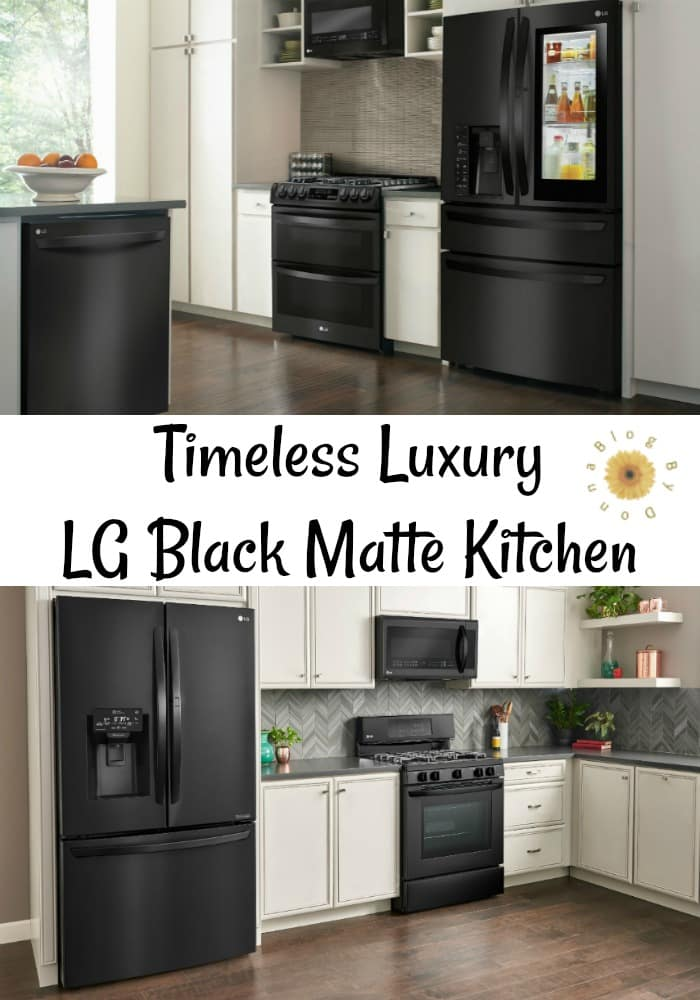 The LG black matte kitchen appliances add timeless luxury to your home from @BestBuy @LGUS. #ad #kitchen #home #homedecor