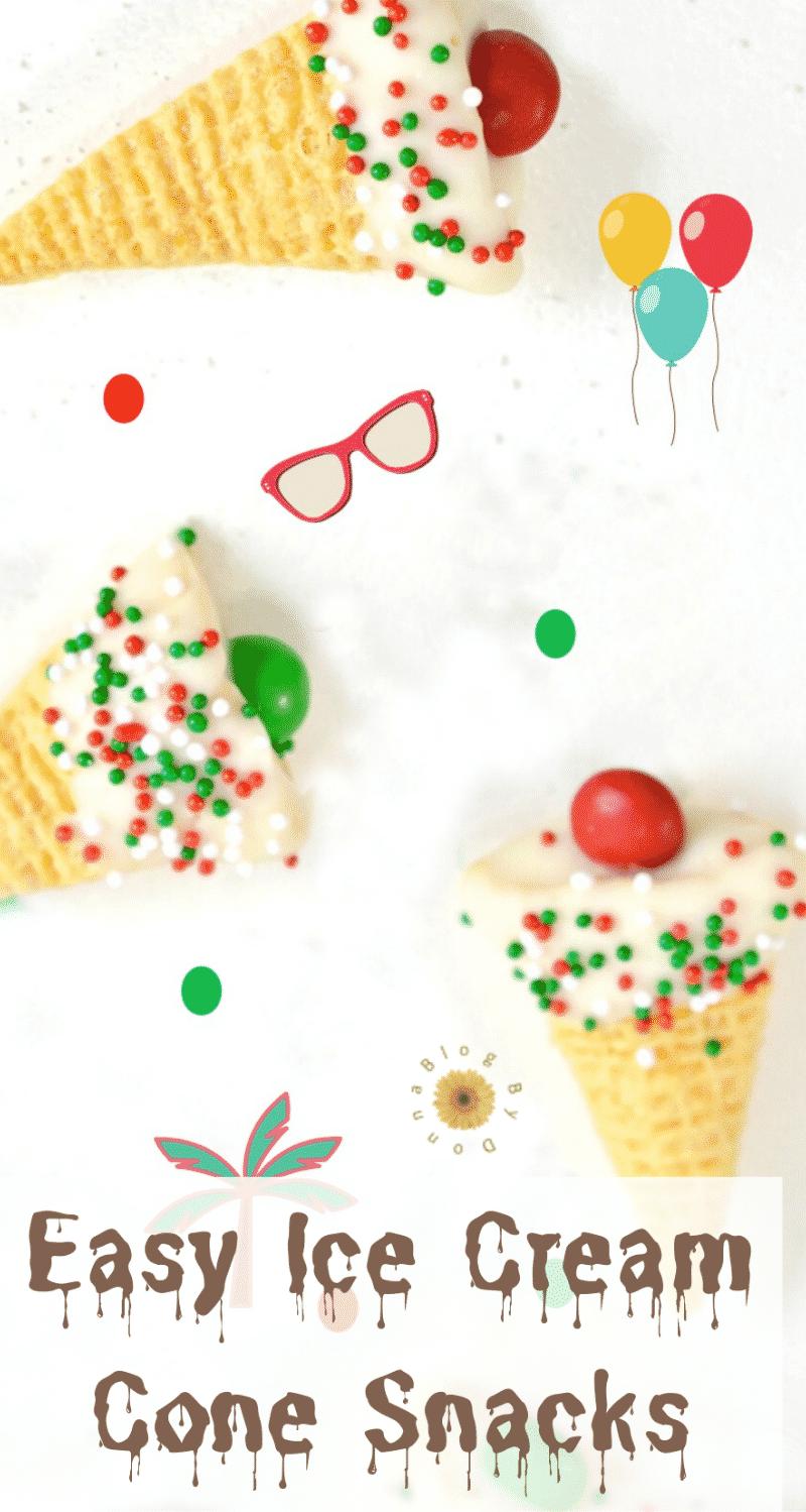 easy ice cream cone snacks